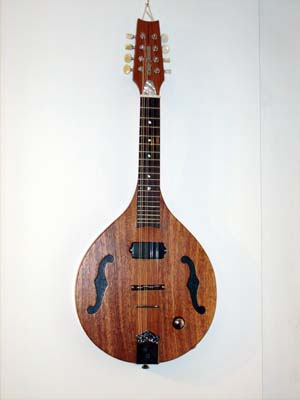 Solid Brazilian mahogany electric mandolin